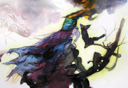 Illustration Walpurgis und Katze