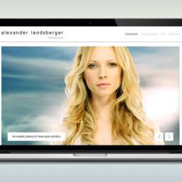 Homepage für Regisseur Alexander Landsberger