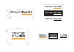 Bauwerkmacher Corporate Design - Varianten und Aufbau